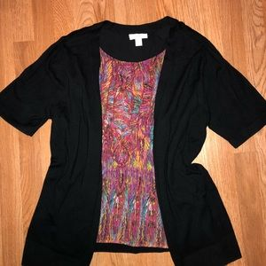 Cardigan with attached cami